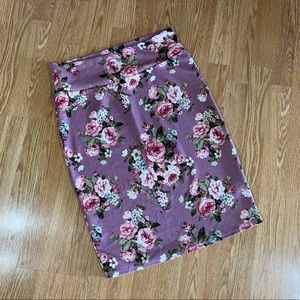 Lularoe Cassie floral skirt size XL
